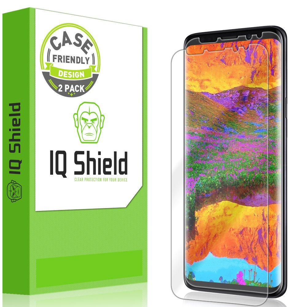 new style 21fdb df932 IQ Shield LiquidSkin Case Friendly Screen Protector for Galaxy S9 Plus HD  Clear Film [2-Pack]