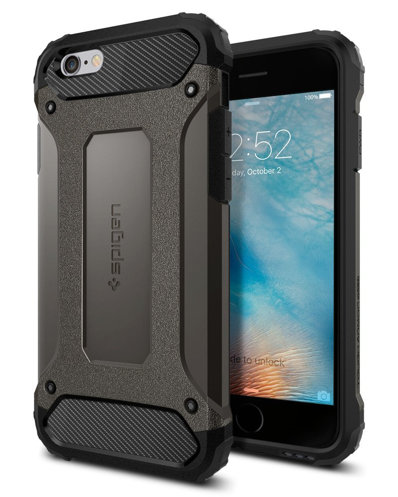 wholesale dealer 0df1d ed703 Spigen Tough Armor TECH iPhone 6S Case with Extreme Shock and Drop ...