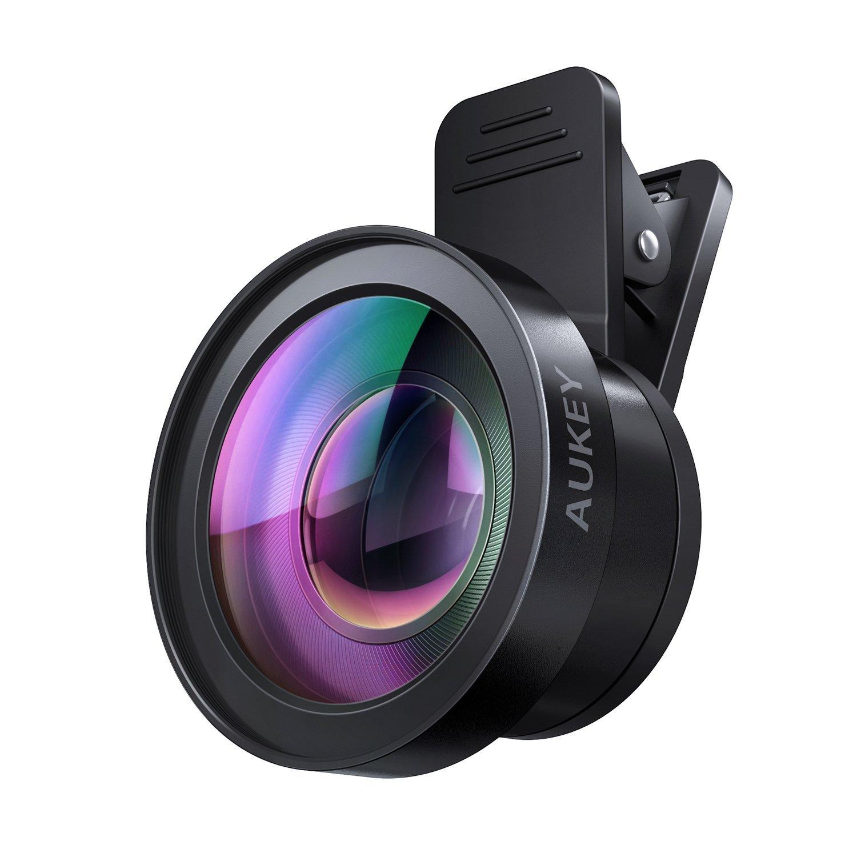 buy popular f37ee f2452 AUKEY Ora iPhone Camera Lens, 0.45x 120° Wide Angle + 15x Macro Clip ...