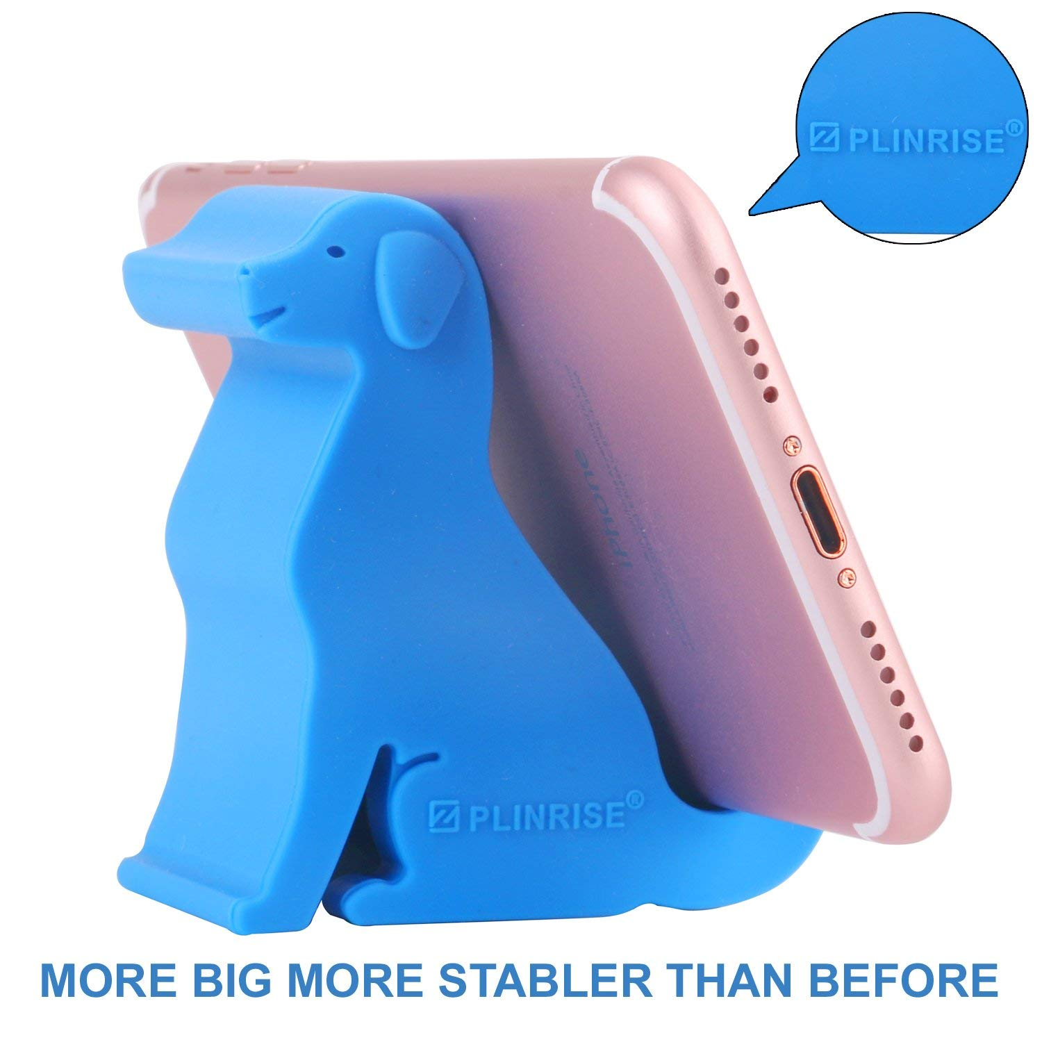 Z Plinrise Mini Puppy Dog Shape Cute Cell Phone Stand Material Of Silica Gel Size 2 4 X 6 1 For Office Desk Holder Black Nano