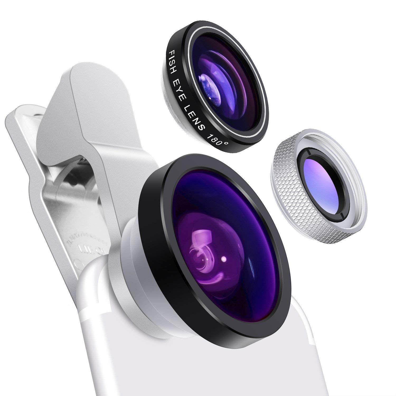 more photos 573ee 31b01 Yarrashop Universal Camera Phone Lens Clip on 0.4X Super Wide Angle ...