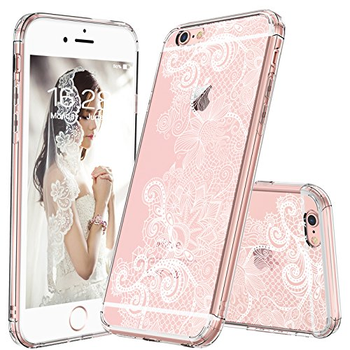 innovative design 061b5 a30c3 MOSNOVO iPhone 6S Plus Case/iPhone 6 Plus Clear Case, White Henna Mandala  Floral Lace Clear Design Printed Plastic with TPU Bumper Protective Back ...