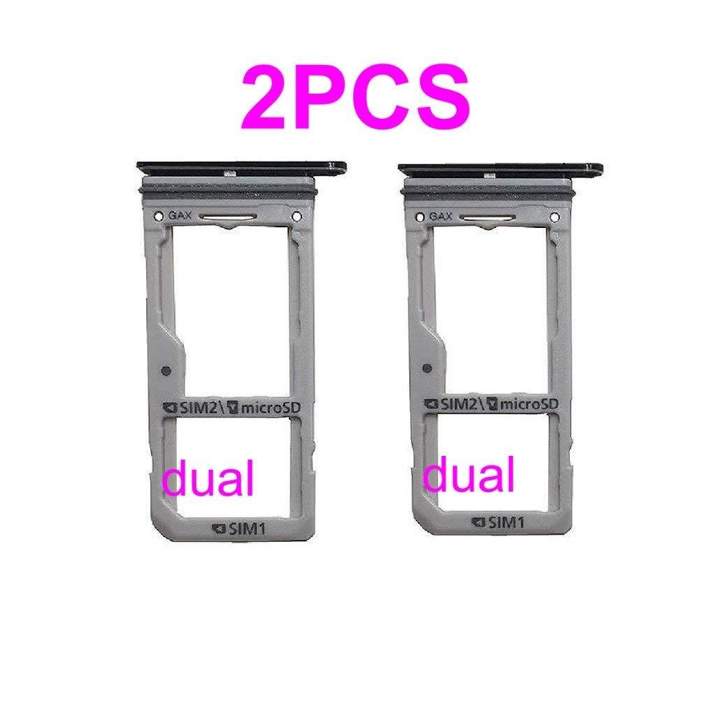 Dual Sim Card & Micro SD Holder Slot Tray Replacement for Samsung Galaxy S8  G950A G950V G950T G950P G950 / S8 Plus S8+ G955A G955V G955T G955P G955 +