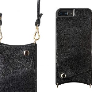 buy popular 47203 af24c iPhone Case with Strap for iPhone 6/7/8 - Crossbody Phone Case Wallet and  iPhone Strap Phone Purse with Shoulder Strap Cross body iPhone Purse Case  ...