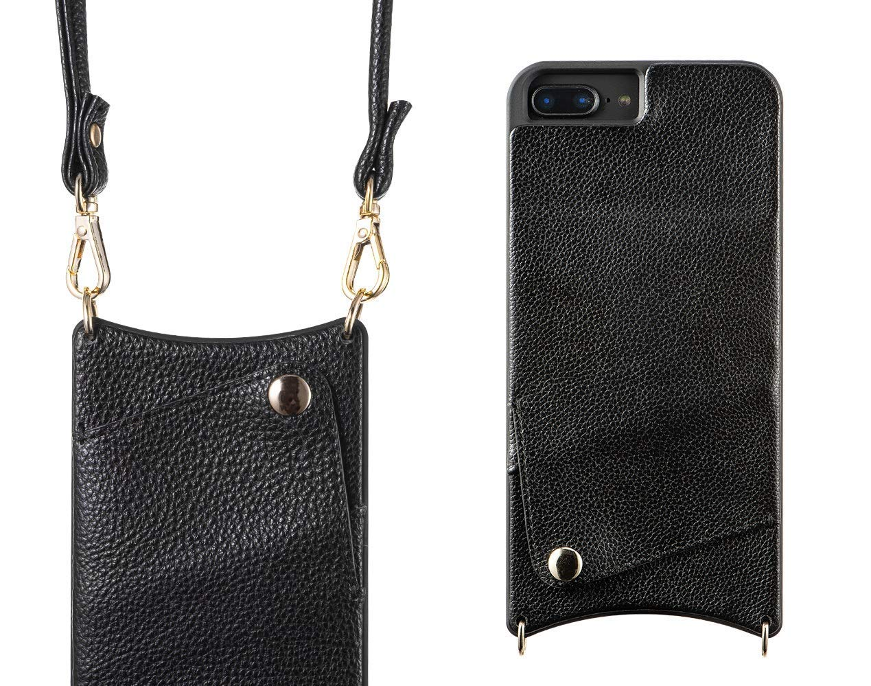buy popular fa63f 5ae1a iPhone Case with Strap for iPhone 6/7/8 - Crossbody Phone Case Wallet and  iPhone Strap Phone Purse with Shoulder Strap Cross body iPhone Purse Case  ...