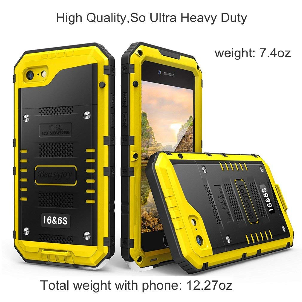 best website 10daf 118c6 Beasyjoy iPhone 6s Case & iPhone 6 Case Waterproof with Built-in Screen  Military Grade Full Body Protective Strong Heavy Duty Metal Rugged Cover  Drop ...