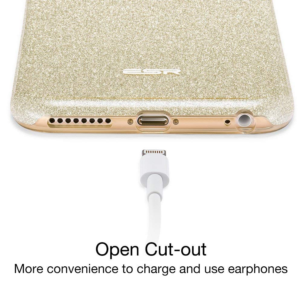 fac047a22206de ESR iPhone 6 Plus Case, iPhone 6S Plus Case, Luxury Glitter Sparkle Bling  Designer Case [Slim Fit, Hard Back Cover] Shining Fashion Style for Apple  iPhone 6 ...