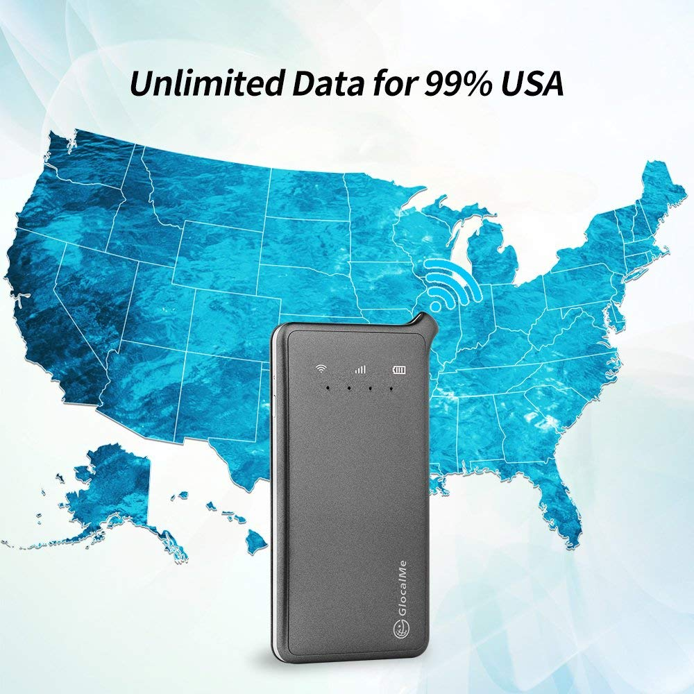 GlocalMe U2 4G Mobile Hotspot - Unlocked WIFI Hotspot with Annual Unlimited  Data Plan for USA