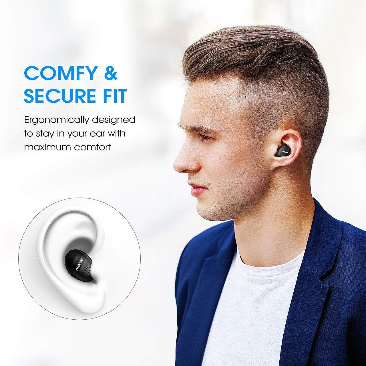 dfa61092cec Mpow EM6 Bluetooth Earpiece, V4.1 Wireless Earbud with Mic, Single ...