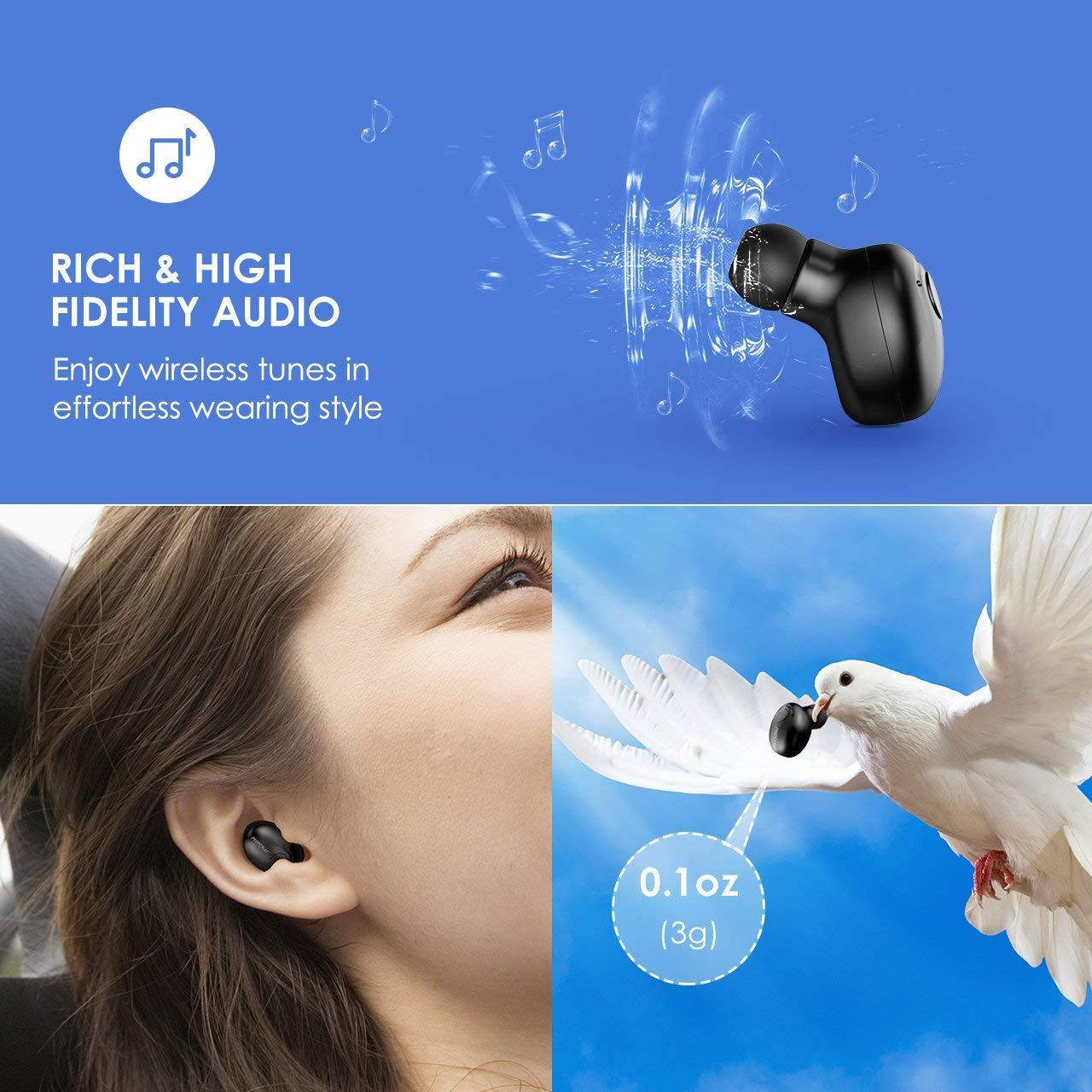 e3a150e8671 Mpow [Gen-2] Bluetooth Earbud, 6-Hrs Playtime Bluetooth Earpiece, V4 ...