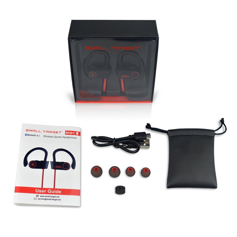 96736f7c7d4 Bluetooth Headphones,Small Target Best Wireless Sports Earphones with Mic  IPX7 Waterproof ...