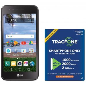 TracFone LG Rebel 2 4G LTE Prepaid Smartphone with Amazon Exclusive Free  $40 Airtime Bundle