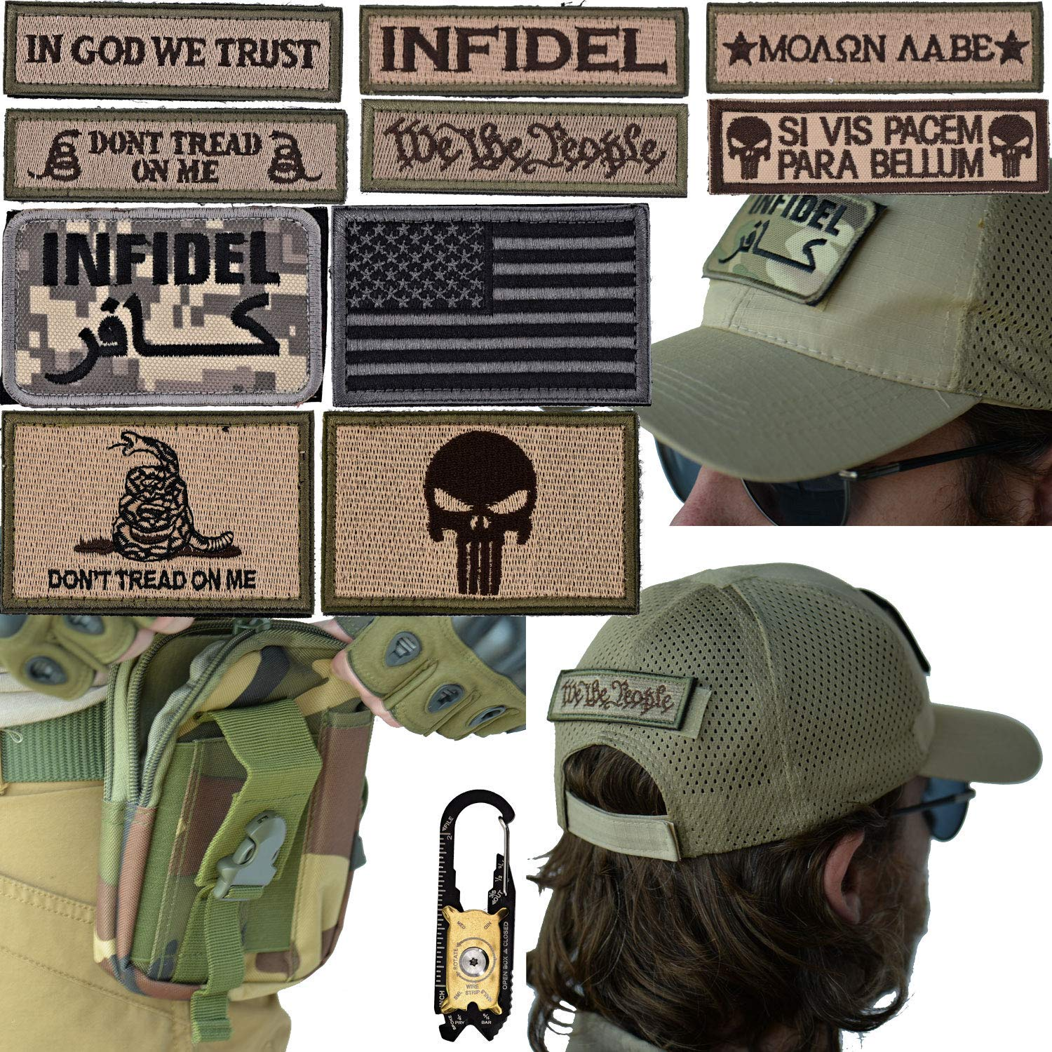 Military Tactical Hat Bundle  20-in-1 Tool 4197411bc31c