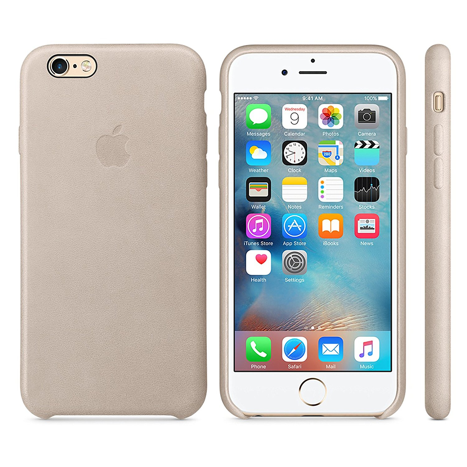 detailing ae77f 57539 Apple OEM Leather Case - for iPhone 6 Plus / 6s Plus - Rose Gray (New)