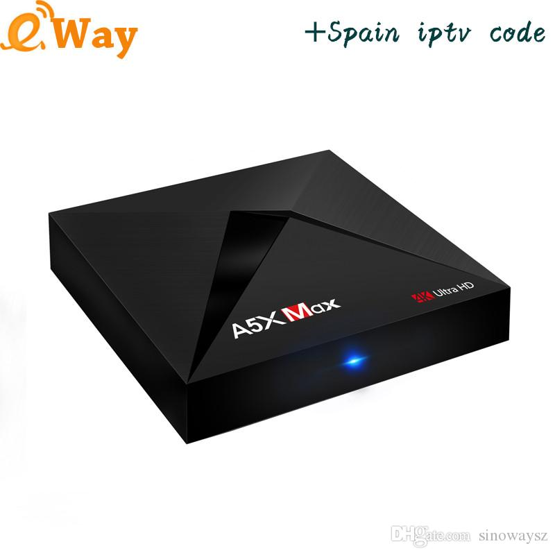 With 1Year ip tv account European Arabic Spain Turkish France Italy IPTV  Code APK M3U A5X MAX Android IPTV Box Set Top Box